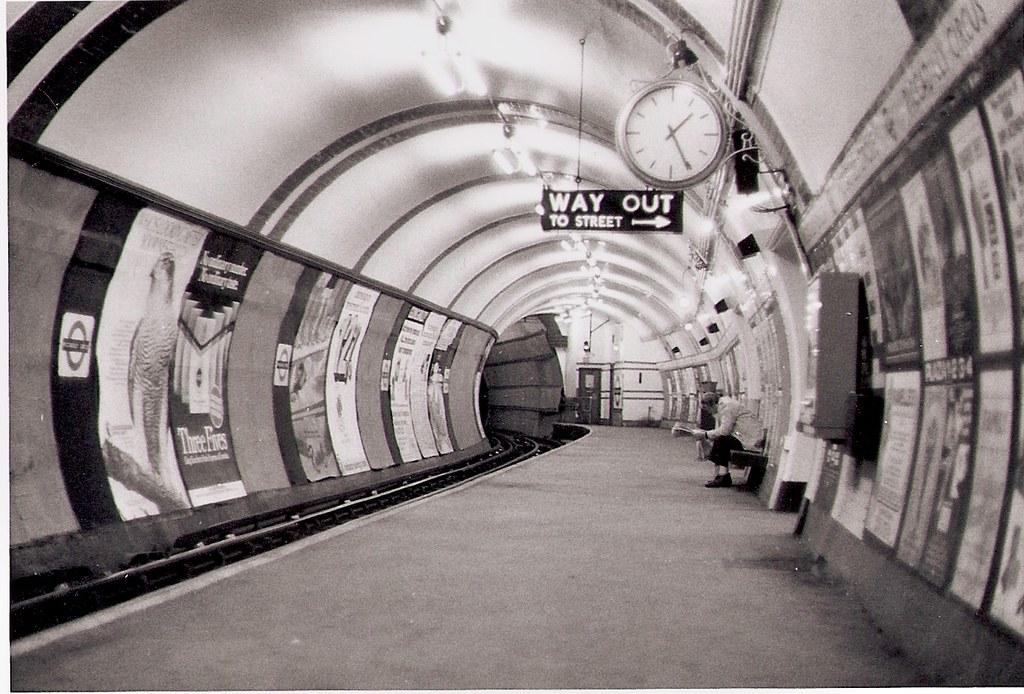 Piccadilly Circus Platform London 1978 M C Morgan Flickr