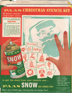 Paas Christmas Stencil Kit - back | by wardomatic