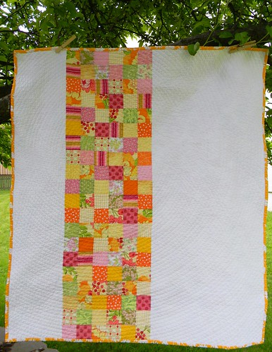 Summer Citrus Baby Quilt | by teaginny