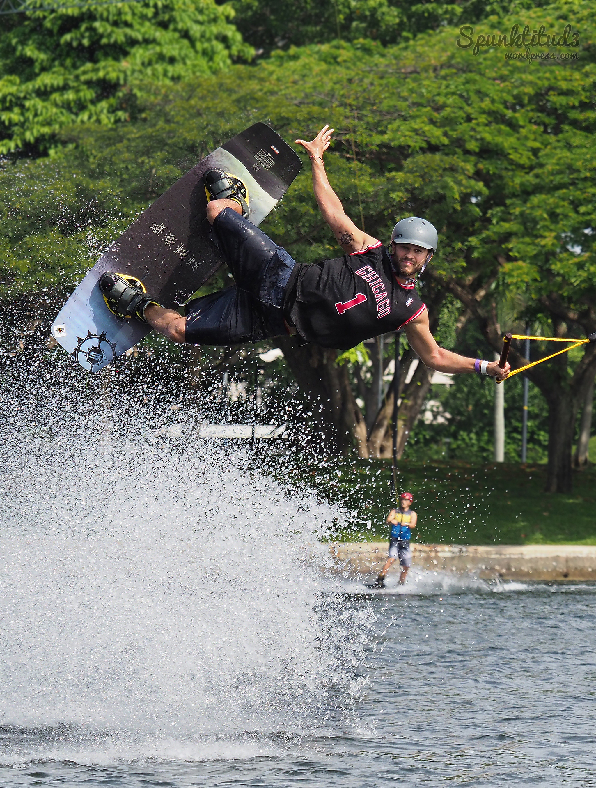 Wakeboarding shots at Singapore Wake Park
