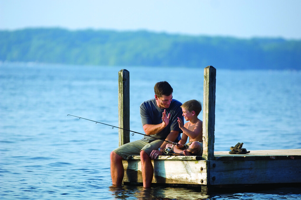 Father son fishing lake wallenpaupack is the third for Lake wallenpaupack fishing