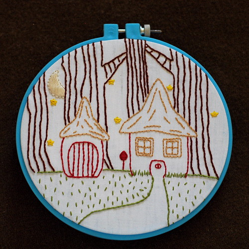 Gnome Home Embroidery | by binah06