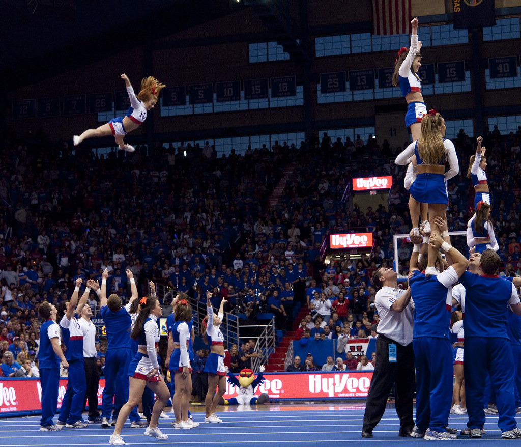 KU Cheer at Late Night in the Phog | Photo by Chuck France ...