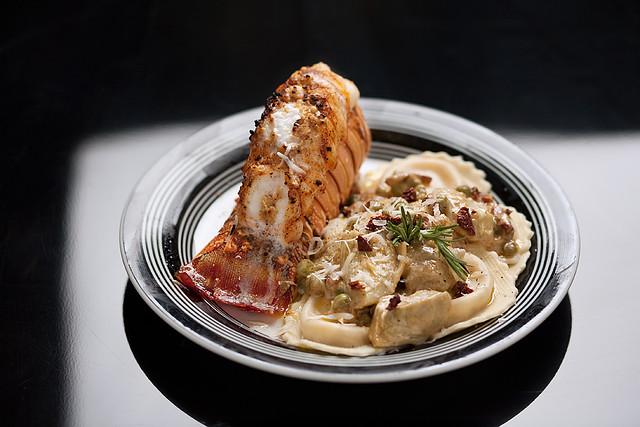 Butternut Squash Ravioli with Artichoke, Sun Dried Tomatoe… | Flickr
