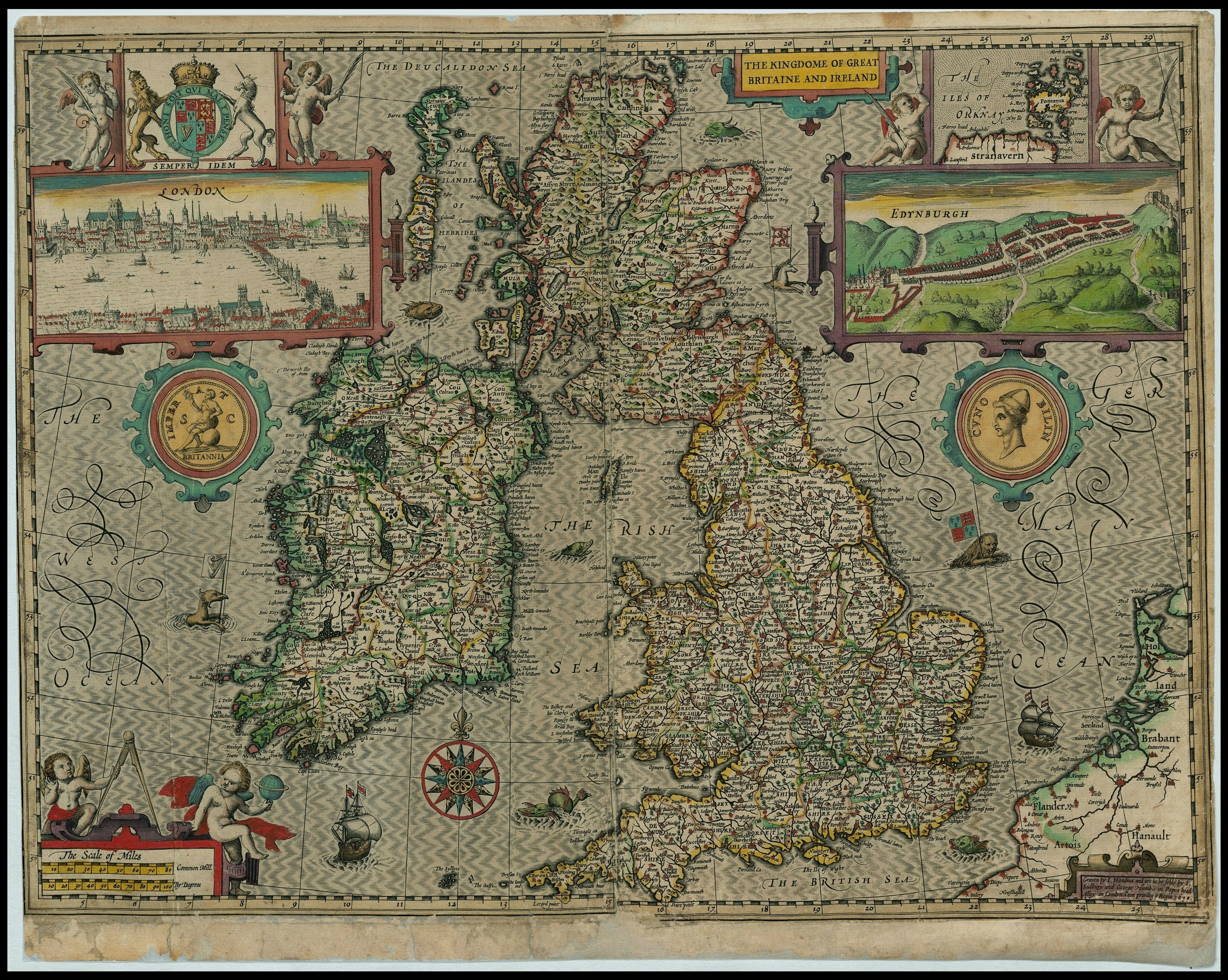 All sizes | Great Britain + Ireland - John Speed proof maps 1605 ...