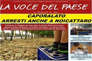 Noicattaro. Prima pagina n.7-2017 front