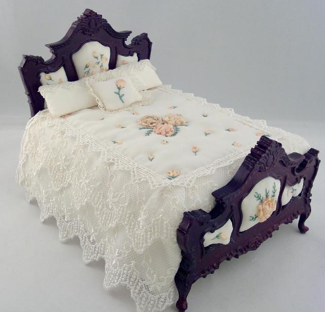 Silk Ribbon Embroidered Custom Dressed Dollhouse Miniature Flickr