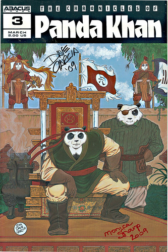 """The Chronicles of Panda Khan"" #3  Abacus Press..signed by Dave Garcia & Monica Sharp (( 1988 )) 