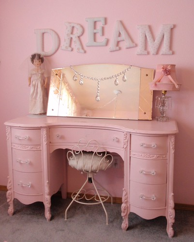 Simply Shabby Chic DREAM letters & pink vanity dresser  Flickr