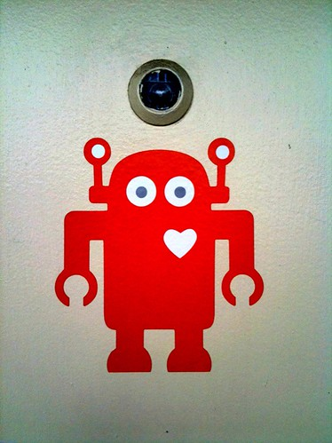Shiny Heart Spotting: Robot with heart at iStrategyLabs in DC | by ShinyHeartVentures
