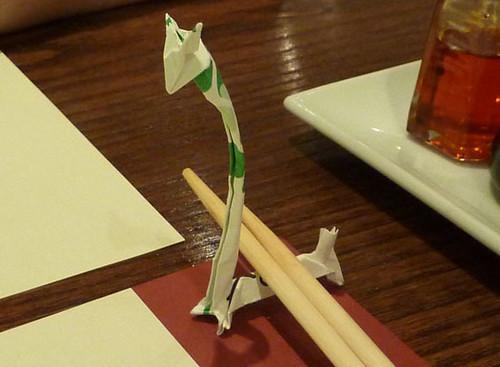 Chopstick Holder Giraffe Made From A Chopstick Wrapper For Flickr