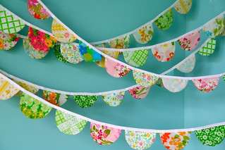 scalloped fabric garland | by sweetjessie