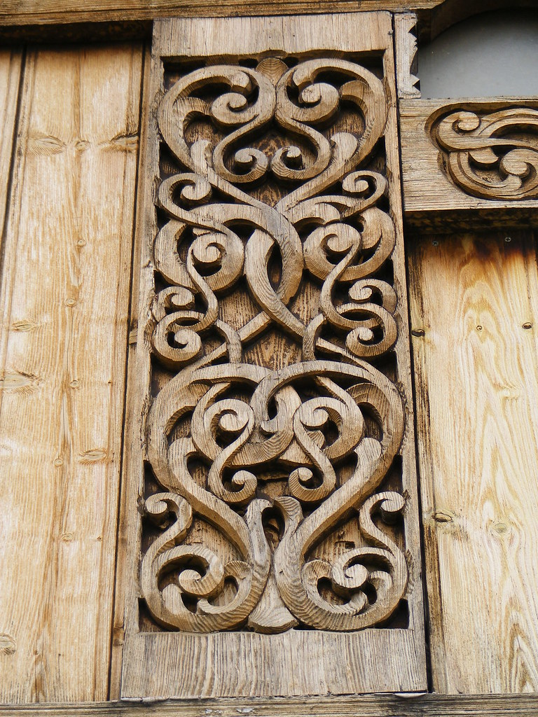 Carvings on the gol stave church this incredible