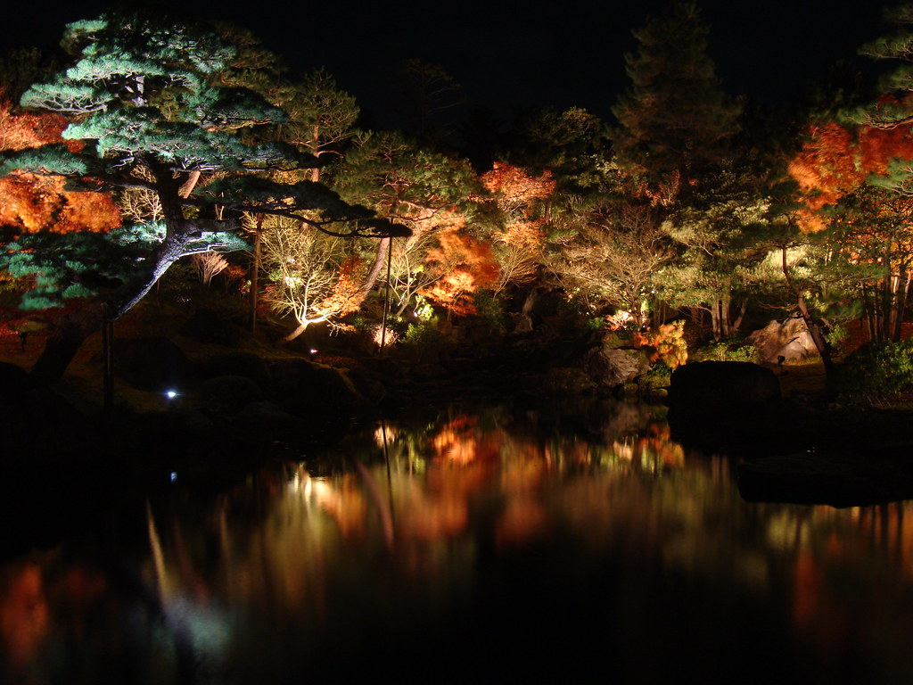 Japanese Garden At Night japanese garden at night | daikonjima, matsue, japan | flickr