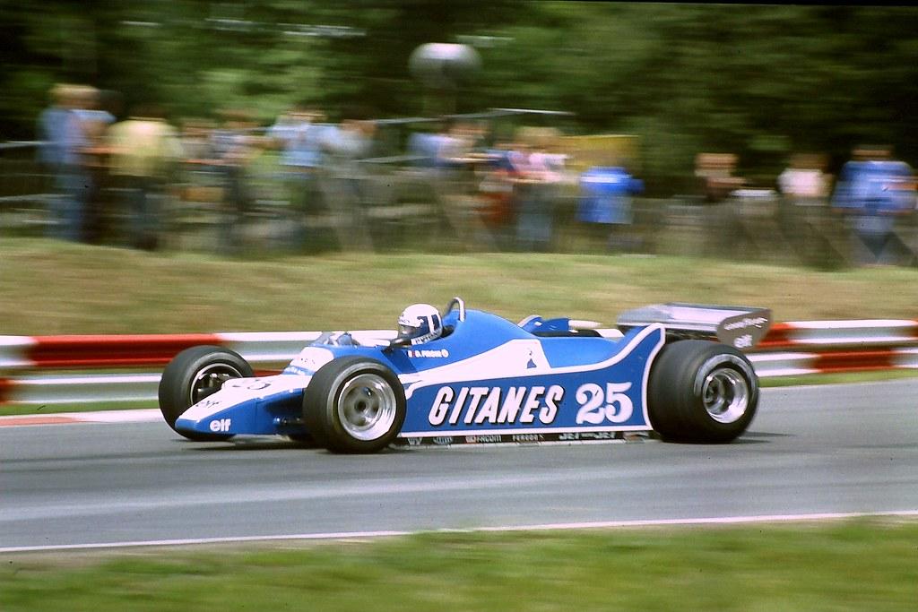 Didier Pironi Ligier Js11 At Druids Bend During Practice Flickr