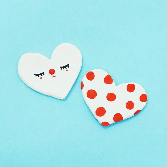 Heart-shaped brooch
