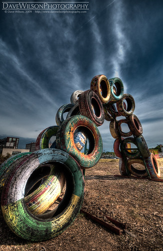 Tire Sculpture, Austin | by DaveWilsonPhotography