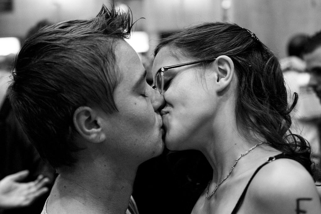 Black Girl Kissing White