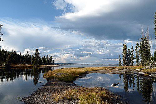 Lewis Lake Yellowstone N P Wyoming The Third Largest