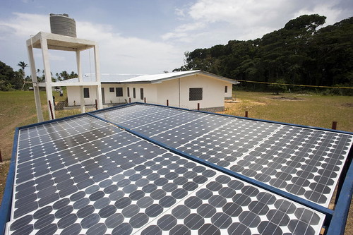 UNDP-Built Solar Power Panels Aid Liberian Communities | by United Nations Photo