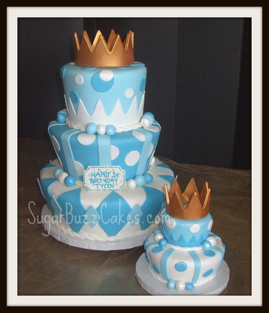 First Birthday Boy Boy Birthday Crown Boy Birthday: Prince Birthday Cake With Gold Crown