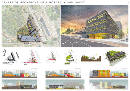 Centre de recherche inria bordeaux sud ouest triaud arch for Architecture concours