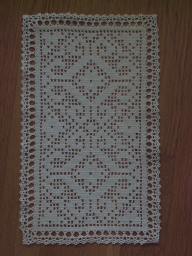 Filet Crochet Square Doily Based On A Pattern I Found On T Flickr