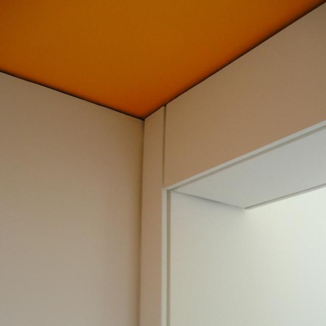 hyndland after school club - orange shadow gap detail, int ...