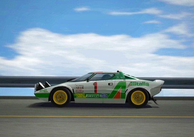gran turismo 4: lancia stratos rally car '77 | i created the… | flickr