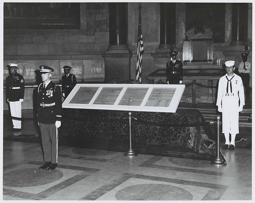 Photograph of First Exhibit of Entire U.S. Constitution Day Exhibit, 1970 | by The U.S. National Archives