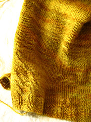Golden vest close-up | by coco knits