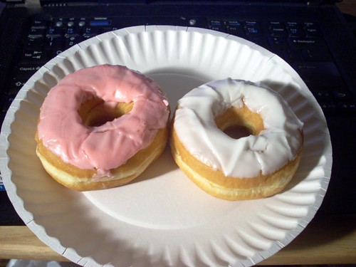 Pink and White Donuts from Dunkin Donuts in Paramus Park Mall | by Morton Fox