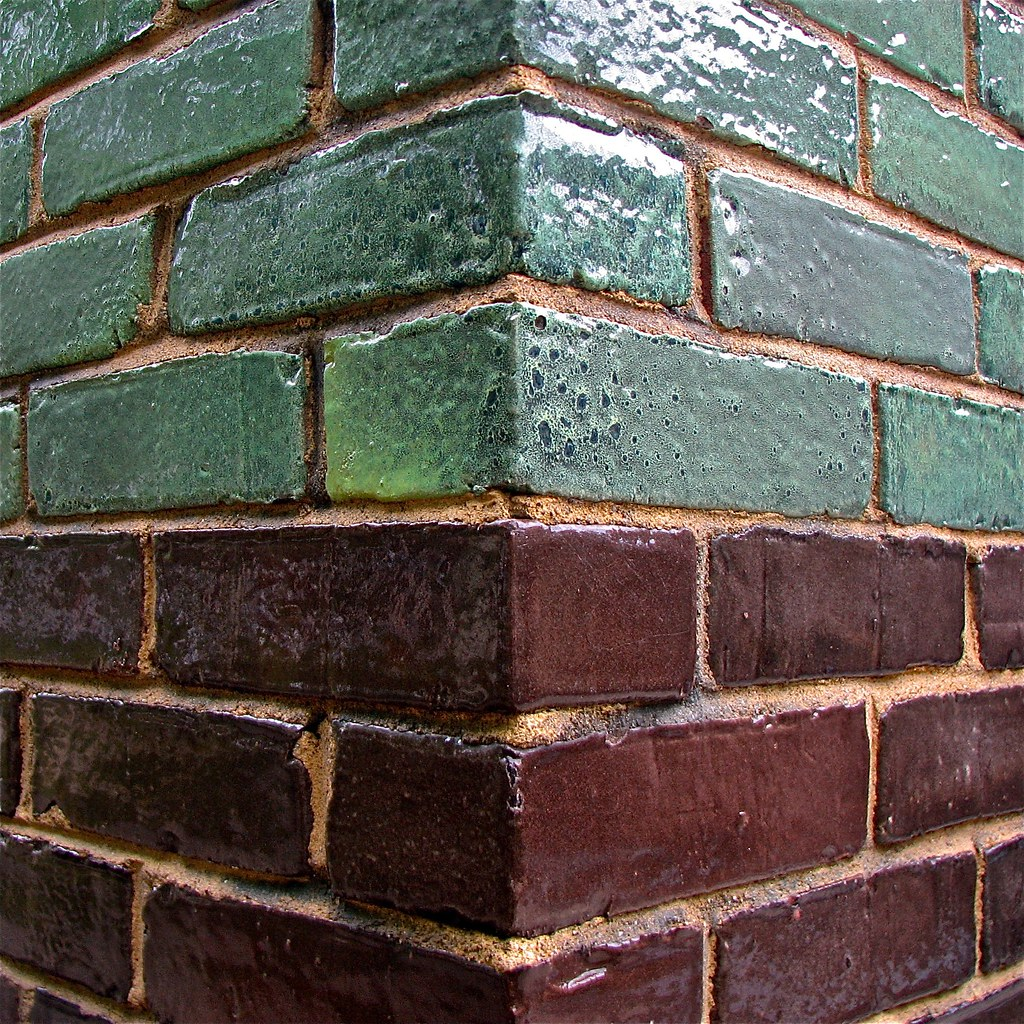 2 Color Glazed Brick 20 Pine Street Intersection Of