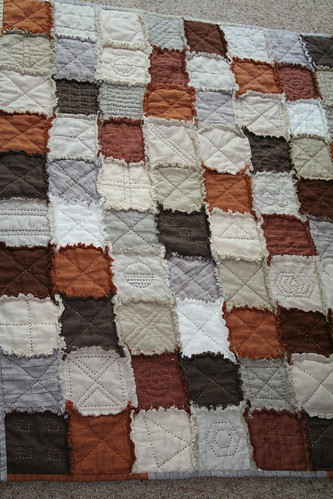 PATCHWORK     BROWNS    .....-CHECKS----  HANDMADE-----RECYCLED--------LINEN.IMG_1001 | by jennyw47