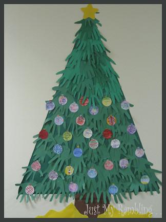 Handprint Christmas Tree Blogged At Just My Rambling