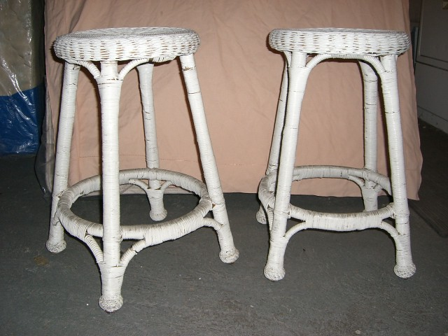 Pier One White Wicker Stools 2 For 50 Casual Wicker