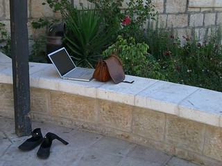 My MacBook Pro outside in Jerusalem | by Alexander Smolianitski