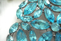 Aqua Rhinestone Brooch | by such pretty things