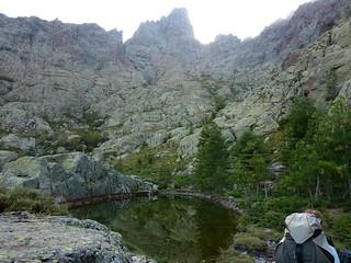 Le lac de la Paglia Orba sous la face Est