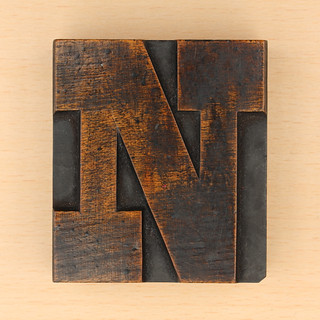 wood type letter N | by Leo Reynolds