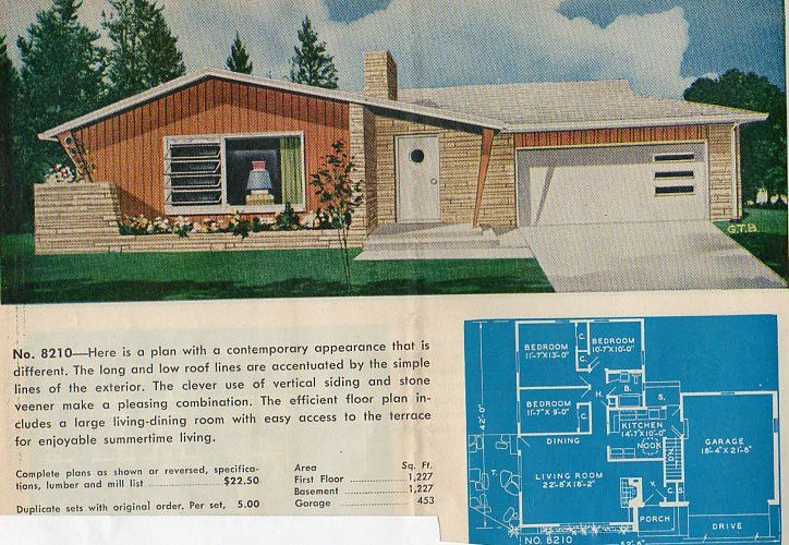 Garlinghouse plan no 8210 from the catalog ranch and for Home design 60s