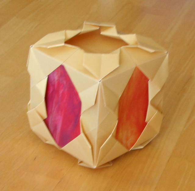 Origami Lantern This Is Designed To Hang Up With A Led Lig Flickr