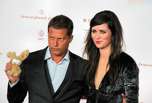Photo of Nora Tschirner & her friend actor  Til Schweiger -