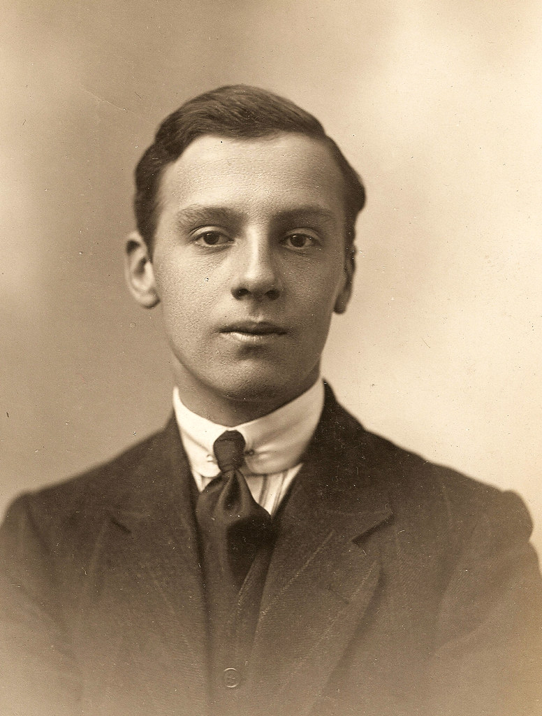 Portrait Of A Young Edwardian Man An Early Studio