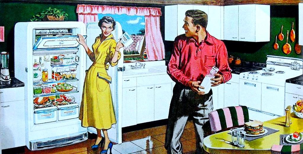 1950s Frigidaire Refrigerator Vintage Kitchen Advertisemen