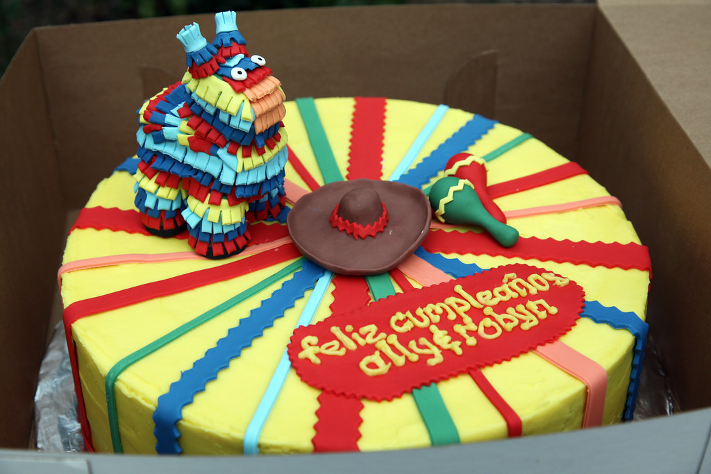 Cinco De Mayo Cake Pinata Is Made Entirely Of Gumpaste Wi Flickr