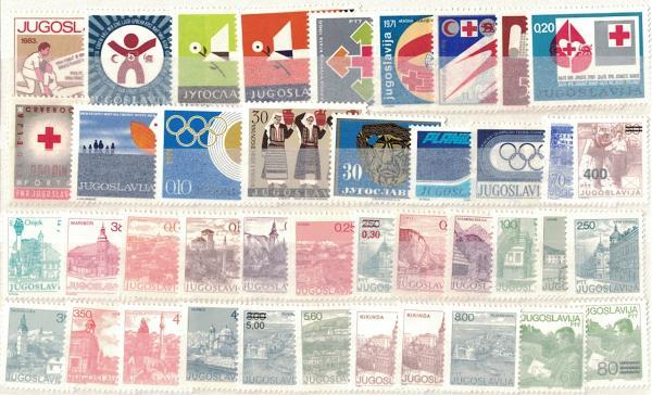 Známky Juhoslávia, rôzne série 41 ks MINT