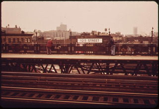 125th Street Elevated Train Platform. 05/1973 | by The U.S. National Archives