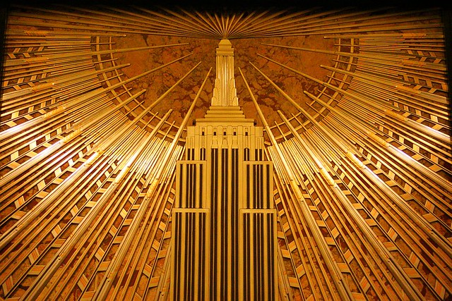 Empire State Building Lobby Mural Detail Detail Of The