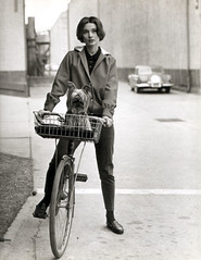 Audrey Hepburn, cycle and dog chic, 1957 | by carltonreid